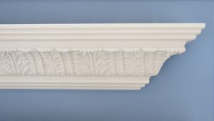 Leaf Cornice patterned crown moulding
